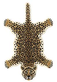 Leopard - Μπεζ Χαλι 100X160 Σύγχρονα Μπεζ/Μαύρα (Μαλλί, Ινδικά)