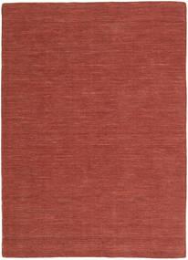 Κιλίμ Loom - Στο Χρώμα Της Σκουριάς Χαλι 160X230 Σύγχρονα Χειροποίητη Ύφανση Σκούρο Κόκκινο (Μαλλί, Ινδικά)
