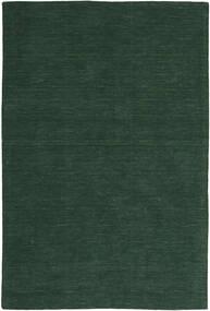 Κιλίμ Loom - Πράσινο Του Δάσους Χαλι 200X300 Σύγχρονα Χειροποίητη Ύφανση Σκούρο Πράσινο (Μαλλί, Ινδικά)