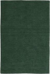 Κιλίμ Loom - Πράσινο Του Δάσους Χαλι 300X400 Σύγχρονα Χειροποίητη Ύφανση Σκούρο Πράσινο Μεγαλα (Μαλλί, Ινδικά)