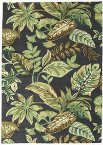 Jungel - Λαδί/Μαύρα Χαλι 160X230 Σύγχρονα Σκούρο Πράσινο/Ανοιχτό Πράσινο/Σκούρο Γκρι (Μαλλί, Ινδικά)