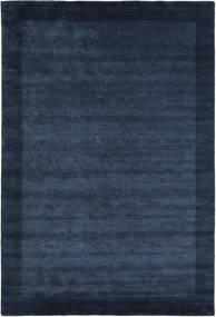 Χειροκίνητου Αργαλειού Frame - Σκούρο Μπλε Χαλι 200X300 Σύγχρονα Σκούρο Μπλε/Μπλε (Μαλλί, Ινδικά)