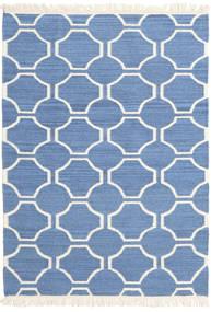 London - Μπλε/Υπόλευκο Χαλι 160X230 Σύγχρονα Χειροποίητη Ύφανση Μπλε/Μπεζ (Μαλλί, Ινδικά)