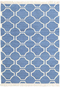 London - Μπλε/Υπόλευκο Χαλι 120X180 Σύγχρονα Χειροποίητη Ύφανση Μπλε/Μπεζ (Μαλλί, Ινδικά)