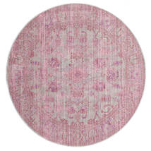 Maharani - Γκρι/Ροζ Χαλι Ø 200 Σύγχρονα Στρογγυλο Ανοιχτό Ροζ ( Τουρκικά)