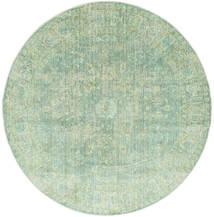 Maharani - Λαδί Χαλι Ø 200 Σύγχρονα Στρογγυλο Παστέλ Πράσινο ( Τουρκικά)