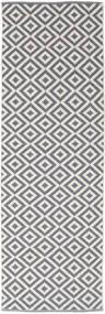 Torun - Γκρι/Neutral Χαλι 80X300 Σύγχρονα Χειροποίητη Ύφανση Χαλι Διαδρομοσ Ανοιχτό Γκρι/Ανοικτό Μωβ (Βαμβάκι, Ινδικά)