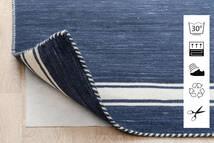 Anti Slip, Non-Woven Χαλι 130X190 Σύγχρονα Μπλε/Ανοιχτό Γκρι ( Βελγικά)