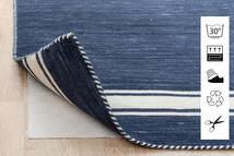 Anti Slip, Non-Woven Χαλι 80X150 Σύγχρονα Μπλε/Ανοιχτό Γκρι ( Βελγικά)