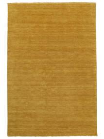 Χειροκίνητου Αργαλειού Fringes - Yellow Χαλι 200X300 Σύγχρονα Ανοιχτό Καφέ/Κίτρινος (Μαλλί, Ινδικά)