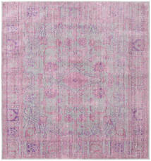 Maharani - Γκρι/Ροζ Χαλι 200X200 Σύγχρονα Τετράγωνο Ανοιχτό Ροζ/Ανοιχτό Γκρι ( Τουρκικά)