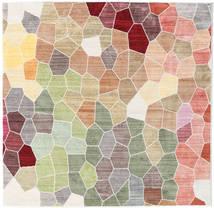 Play Of Colours Χαλι 150X150 Σύγχρονα Τετράγωνο Ανοιχτό Γκρι/Μπεζ ( Τουρκικά)