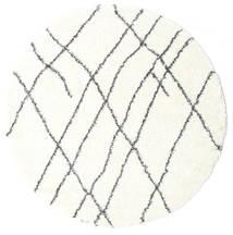 Σάγκι Tangier - White/Σκούρο Γκρι Χαλι Ø 200 Σύγχρονα Στρογγυλο Μπεζ/Λευκό/Κρεμ ( Τουρκικά)
