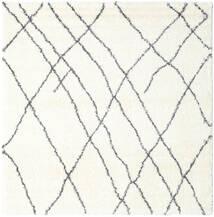 Σάγκι Tangier - White/Σκούρο Γκρι Χαλι 250X250 Σύγχρονα Τετράγωνο Μπεζ/Λευκό/Κρεμ Μεγαλα ( Τουρκικά)