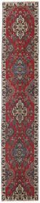 Tabriz Πατίνα Χαλι 80X430 Ανατολής Χειροποιητο Χαλι Διαδρομοσ Σκούρο Κόκκινο/Σκούρο Καφέ (Μαλλί, Περσικά/Ιρανικά)