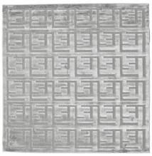 Dakari - Γκρι Χαλι 200X200 Σύγχρονα Τετράγωνο Ανοιχτό Γκρι ( Τουρκικά)