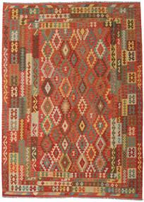 Κιλίμ Afghan Old Style Χαλι 249X344 Ανατολής Χειροποίητη Ύφανση Πορτοκαλί/Σκούρο Μπεζ (Μαλλί, Αφγανικά)
