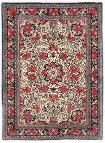 Bidjar Χαλι 115X155 Ανατολής Χειροποιητο Σκούρο Καφέ/Σκούρο Κόκκινο (Μαλλί, Περσικά/Ιρανικά)