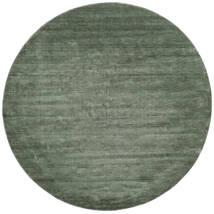 Χειροκίνητου Αργαλειού - Πράσινο Του Δάσους Χαλι Ø 250 Σύγχρονα Στρογγυλο Σκούρο Πράσινο/Ανοιχτό Πράσινο Μεγαλα (Μαλλί, Ινδικά)