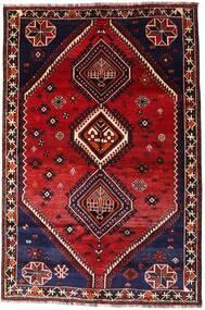 Shiraz Χαλι 160X242 Ανατολής Χειροποιητο Σκούρο Κόκκινο (Μαλλί, Περσικά/Ιρανικά)