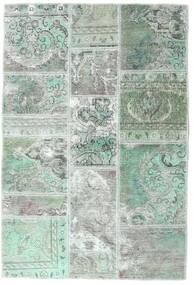 Patchwork - Persien/Iran Χαλι 106X158 Σύγχρονα Χειροποιητο Ανοιχτό Γκρι/Παστέλ Πράσινο (Μαλλί, Περσικά/Ιρανικά)
