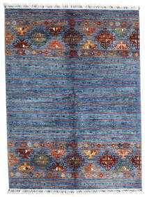 Shabargan Χαλι 153X204 Σύγχρονα Χειροποιητο Μπλε/Ανοικτό Μπλε (Μαλλί, Αφγανικά)