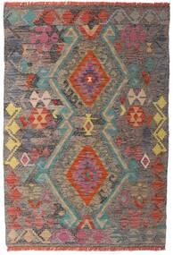Κιλίμ Afghan Old Style Χαλι 98X146 Ανατολής Χειροποίητη Ύφανση Ανοιχτό Καφέ/Ανοιχτό Γκρι (Μαλλί, Αφγανικά)