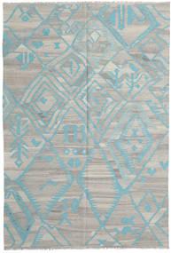 Κιλίμ Μοντέρνα Χαλι 200X294 Σύγχρονα Χειροποίητη Ύφανση Ανοιχτό Γκρι (Μαλλί, Αφγανικά)