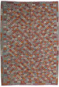 Κιλίμ Afghan Old Style Χαλι 208X295 Ανατολής Χειροποίητη Ύφανση Σκούρο Κόκκινο/Σκούρο Γκρι (Μαλλί, Αφγανικά)