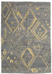 Κιλίμ Μοντέρνα Χαλι 204X292 Σύγχρονα Χειροποίητη Ύφανση Σκούρο Γκρι/Ανοιχτό Γκρι (Μαλλί, Αφγανικά)