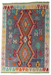 Κιλίμ Afghan Old Style Χαλι 106X151 Ανατολής Χειροποίητη Ύφανση Σκούρο Γκρι/Σκούρο Κόκκινο (Μαλλί, Αφγανικά)