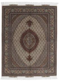 Tabriz 60 Raj Μεταξωτό Στημόνι Χαλι 156X198 Ανατολής Χειροποιητο Σκούρο Καφέ/Σκούρο Γκρι (Μάλλινα/Μεταξωτά, Περσικά/Ιρανικά)