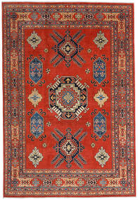 Kazak Χαλι 207X305 Ανατολής Χειροποιητο Στο Χρώμα Της Σκουριάς/Σκούρο Κόκκινο (Μαλλί, Αφγανικά)