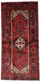 Hamadan Χαλι 100X205 Ανατολής Χειροποιητο Σκούρο Κόκκινο (Μαλλί, Περσικά/Ιρανικά)
