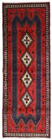 Afshar Χαλι 91X255 Ανατολής Χειροποιητο Χαλι Διαδρομοσ Μαύρα/Σκούρο Κόκκινο (Μαλλί, Περσικά/Ιρανικά)