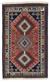 Yalameh Χαλι 60X99 Ανατολής Χειροποιητο Σκούρο Γκρι/Σκούρο Κόκκινο (Μαλλί, Περσικά/Ιρανικά)