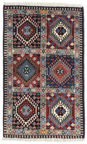Yalameh Χαλι 63X101 Ανατολής Χειροποιητο Σκούρο Γκρι/Μπεζ (Μαλλί, Περσικά/Ιρανικά)