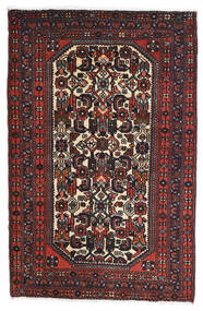 Rudbar Χαλι 81X125 Ανατολής Χειροποιητο Μαύρα/Σκούρο Κόκκινο (Μαλλί, Περσικά/Ιρανικά)
