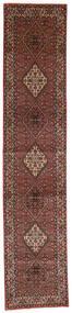 Bidjar Zandjan Χαλι 85X410 Ανατολής Χειροποιητο Χαλι Διαδρομοσ Σκούρο Κόκκινο/Σκούρο Καφέ (Μαλλί, Περσικά/Ιρανικά)