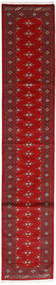 Pakistan Μπουχαρα 3Ply Χαλι 79X410 Ανατολής Χειροποιητο Χαλι Διαδρομοσ Σκούρο Κόκκινο/Στο Χρώμα Της Σκουριάς (Μαλλί, Πακιστανικά)