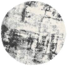 Marble Χαλι Ø 150 Σύγχρονα Στρογγυλο Ανοιχτό Γκρι/Σκούρο Γκρι ( Τουρκικά)
