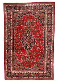 Mashad Χαλι 190X295 Ανατολής Χειροποιητο Σκούρο Κόκκινο/Στο Χρώμα Της Σκουριάς/Σκούρο Καφέ (Μαλλί, Περσικά/Ιρανικά)