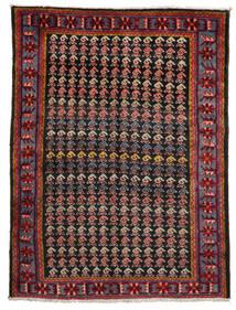 Afshar/Sirjan Χαλι 153X202 Ανατολής Χειροποιητο Σκούρο Κόκκινο/Μαύρα (Μαλλί, Περσικά/Ιρανικά)
