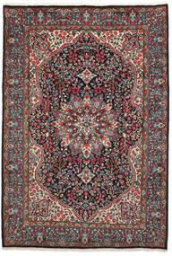 Kerman Χαλι 206X301 Ανατολής Χειροποιητο Μαύρα/Σκούρο Καφέ (Μαλλί, Περσικά/Ιρανικά)