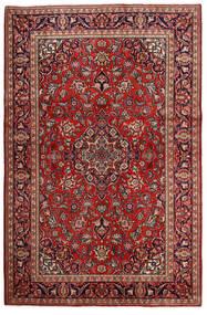 Keshan Χαλι 132X203 Ανατολής Χειροποιητο Σκούρο Κόκκινο/Σκούρο Καφέ (Μαλλί, Περσικά/Ιρανικά)