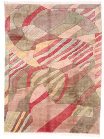 Himalaya Χαλι 251X330 Σύγχρονα Χειροποιητο Μπεζ/Σκούρο Κόκκινο Μεγαλα (Μαλλί, Ινδικά)