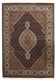 Tabriz Royal Χαλι 167X240 Ανατολής Χειροποιητο Σκούρο Καφέ/Ανοιχτό Γκρι ( Ινδικά)
