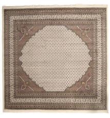 Mir Indo Χαλι 253X253 Ανατολής Χειροποιητο Τετράγωνο Ανοιχτό Γκρι/Καφέ/Μπεζ Μεγαλα (Μαλλί, Ινδικά)