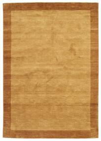 Χειροκίνητου Αργαλειού Frame - Χρυσό Χαλι 160X230 Σύγχρονα Ανοιχτό Καφέ/Καφέ (Μαλλί, Ινδικά)