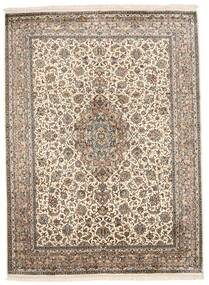Kashmir Καθαρό Μετάξι Χαλι 160X220 Ανατολής Χειροποιητο Ανοιχτό Γκρι/Λευκό/Κρεμ (Μεταξωτά, Ινδικά)
